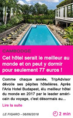 Societe cet hotel serait le meilleur au monde et on peut y dormir pour seulement 77 euros