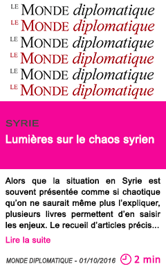 Societe chaos syrie