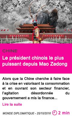 Societe chine le president chinois le plus puissant depuis mao zedong