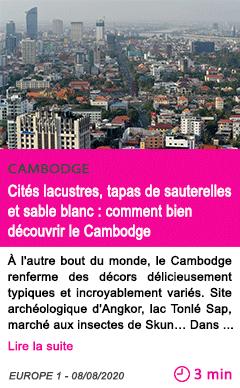 Societe cites lacustres tapas de sauterelles et sable blanc comment bien decouvrir le cambodge