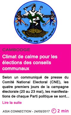 Societe climat de calme pour les elections des conseils communaux