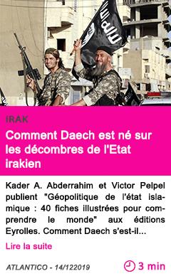 Societe comment daech est ne sur les decombres de l etat irakien
