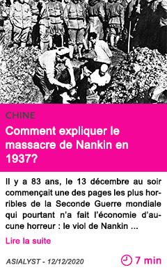 Societe comment expliquer le massacre de nankin en 1937