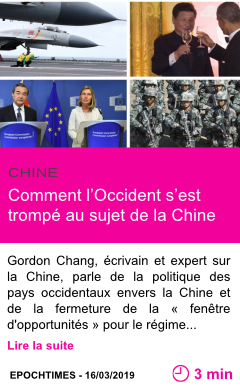 Societe comment l occident s est trompe au sujet de la chine page001