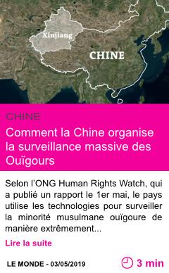 Societe comment la chine organise la surveillance massive des ouigours page001