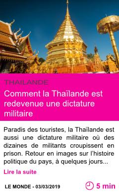 Societe comment la thailande est redevenue une dictature militaire page001