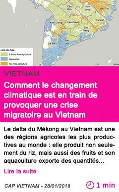 Societe comment le changement climatique est en train de provoquer une crise migratoire au vietnam