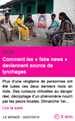 Societe comment les fake news deviennent source de lynchages 1