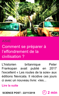 Societe comment se preparer a l effondrement de la civilisation page001