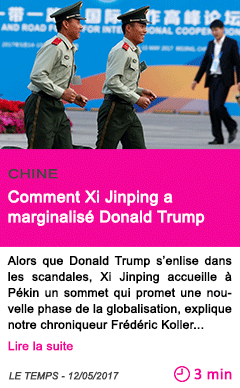 Societe comment xi jinping a marginalise donald trump