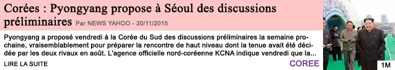 Societe corees pyongyang propose a seoul des discussions preliminaires 1