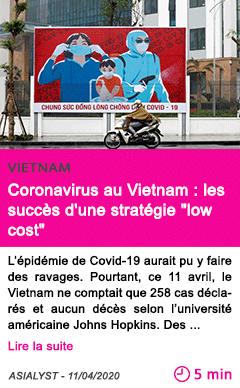 Societe coronavirus au vietnam les succes d une strategie low cost