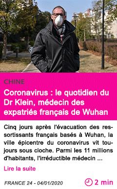 Societe coronavirus le quotidien du dr klein medecin des expatries francais de wuhan