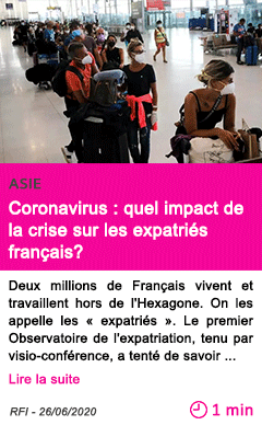 Societe coronavirus quel impact de la crise sur les expatries francais