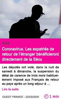 Societe coronavirus