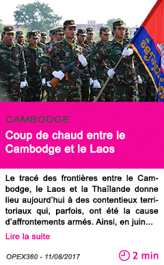 Societe coup de chaud entre le cambodge et le laos