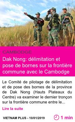 Societe dak nong delimitation et pose de bornes sur la frontiere commune avec le cambodge page001
