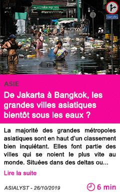 Societe de jakarta a bangkok les grandes villes asiatiques bientot sous les eaux