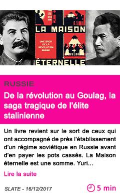 Societe de la revolution au goulag la saga tragique de l elite stalinienne 1