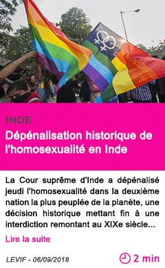 Societe depenalisation historique de l homosexualite en inde