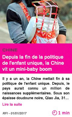 Societe depuis la fin de la politique de l enfant unique la chine vit un mini baby boom