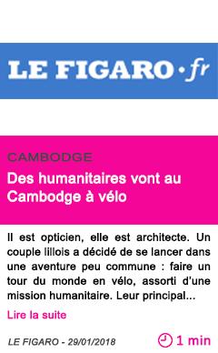 Societe des humanitaires vont au cambodge a velo