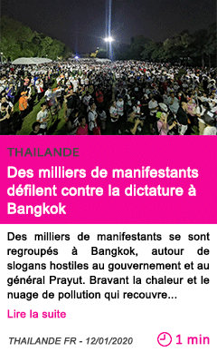 Societe des milliers de manifestants d c3 a9filent contre la dictature c3 a0 bangkok
