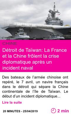 Societe detroit de taiwan la france et la chine frolent la crise diplomatique apres un incident naval page001