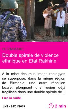 Societe double spirale de violence ethnique en etat rakhine page001