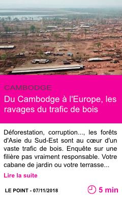 Societe du cambodge a l europe les ravages du trafic de bois page001