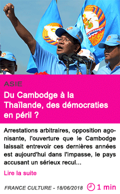 Societe du cambodge a la thailande des democraties en peril