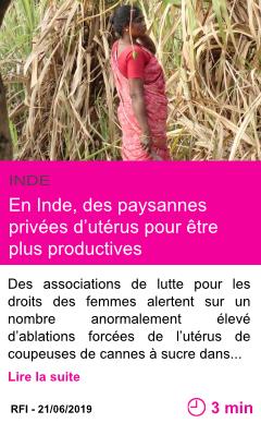 Societe en inde des paysannes privees d uterus pour etre plus productives page001