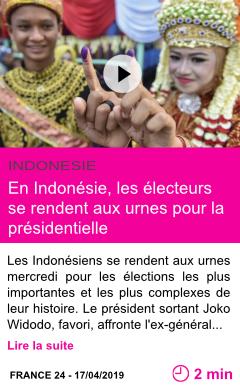 Societe en indonesie les electeurs se rendent aux urnes pour la presidentielle page001