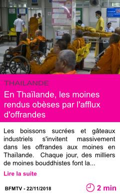 Societe en thailande les moines rendus obeses par l afflux d offrandes page001