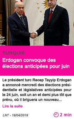 Societe erdogan convoque des elections anticipees pour juin
