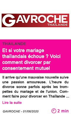 Societe et si votre mariage thailandais echoue voici comment divorcer par consentement mutuel