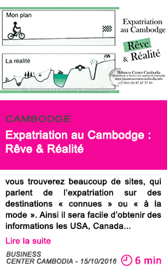 Societe expatriation au cambodge reve realite