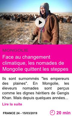 Societe face au changement climatique les nomades de mongolie quittent les steppes page001