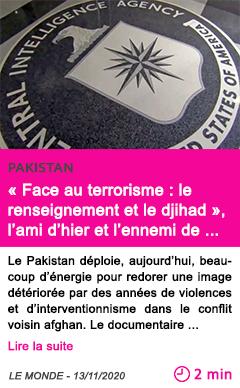 Societe face au terrorisme le renseignement et le djihad l ami d hier et l ennemi de demain