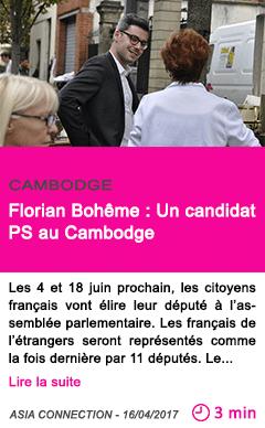 Societe florian boheme un candidat ps au cambodge 1