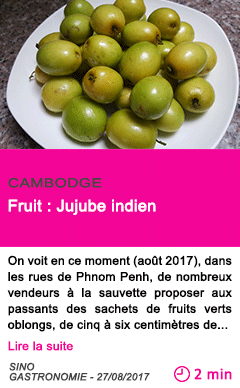 Societe fruit jujube indien
