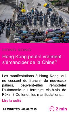 Societe hong kong peut il vraiment s emanciper de la chine page001