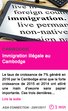 Societe immigration illegale au cambodge