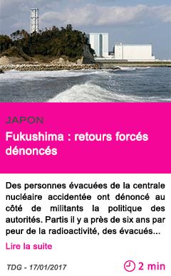 Societe japon fukushima retours forces denonces