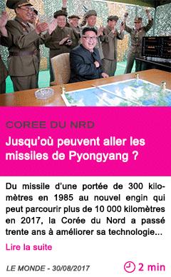 Societe jusqu ou peuvent aller les missiles de pyongyang