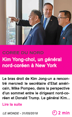 Societe kim yong chol un general nord coreen a new york
