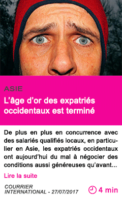 Societe l age d or des expatries occidentaux est termine