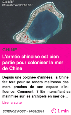 Societe l armee chinoise est bien partie pour coloniser la mer de chine