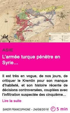 Societe l armee turque penetre en syrie