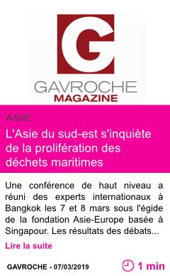 Societe l asie du sud est s inquiete de la proliferation des dechets maritimes page001